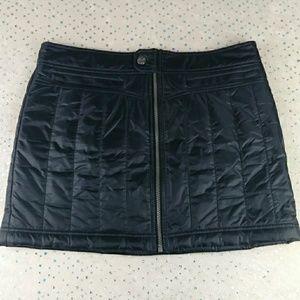 Athleta Toasty Buns Mini Skirt Quilted Full Zip